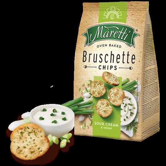 Maretti bruschette sour cream onion zwiebel