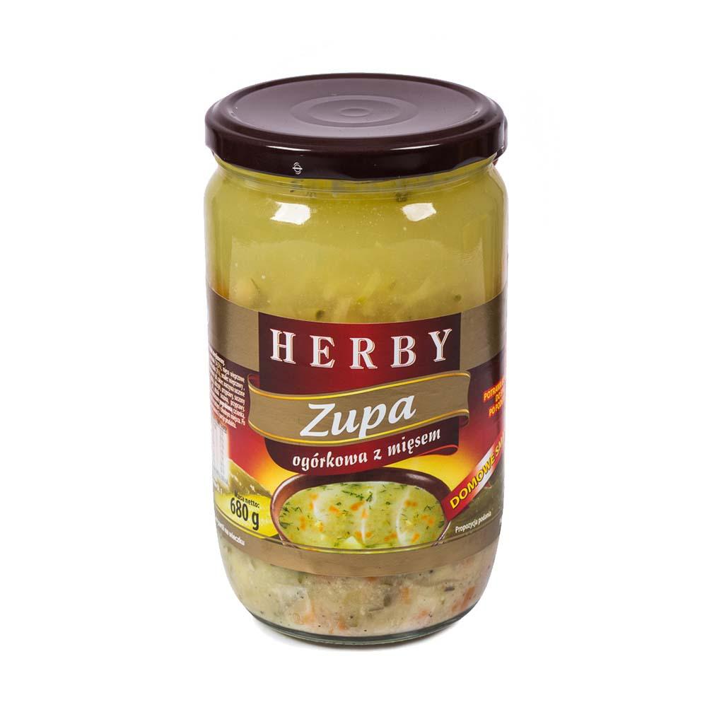 herby zupa ogorkowa z miesem