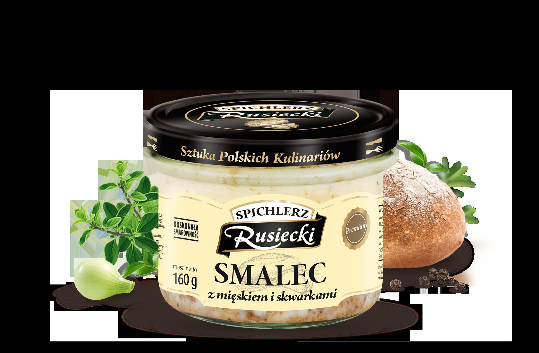 Spichlerz Rusiecki Altpolnischer Schmalz mit Fleisch und Grieben in Glas 160 g
