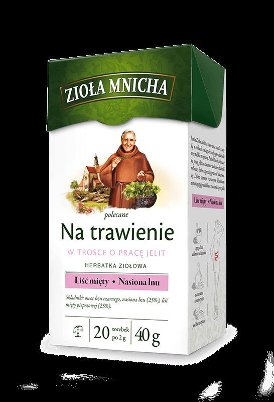 ziola mnicha herbata na trawienie prace jelit