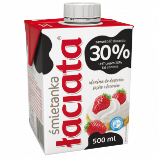 Śmietanka UHT Łaciata 30% 500 ml