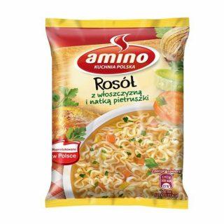 amino rosol z wloszczyzna i natka pietruszki