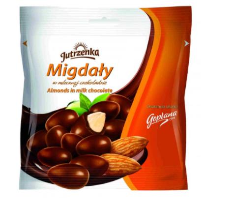 migdaly w czekoladzie