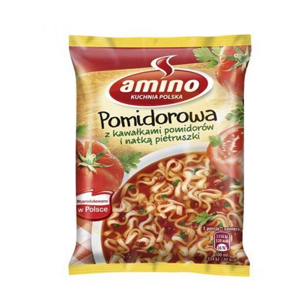 pamapol pomidorowa z kawalkami pomidorow i natka pietruszki