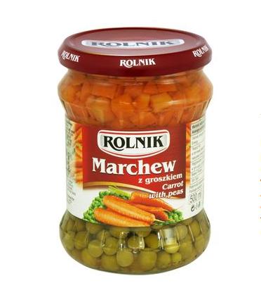 rolnik marchew groszek