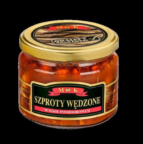 szproty wedzone w sosie pomidorowym mk