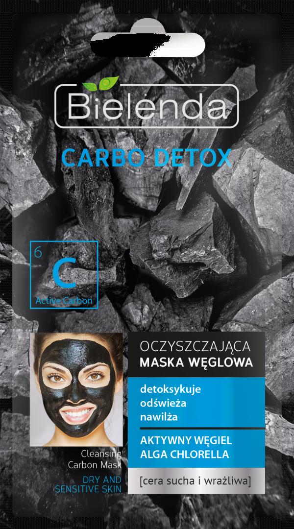 bielenda CARBO DETOX Oczyszczajaca maska weglowa do cery suchej i wrazliwej