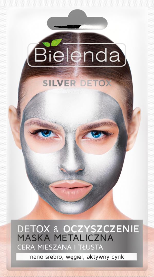 bielenda SILVER DETOX Detoksykujaca maska metaliczna do cery mieszanej i tlustej